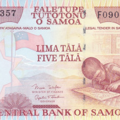 Bancnota Samoa 5 Tala 2005 - P33b UNC