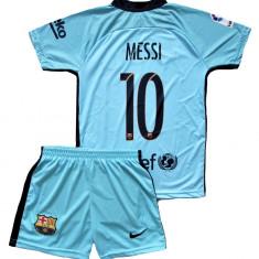 Compleu Echipament Fotbal FC BARCELONA MESSI MODEL 2018 copii 12-13 ani, Marime: YXL, Set echipament fotbal