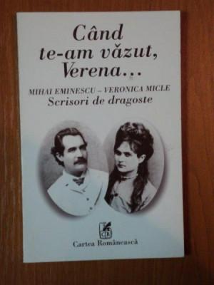 CAND TE-AM VAZUT, VERENA... de MIHAI EMINESCU - VERONICA MICLE foto