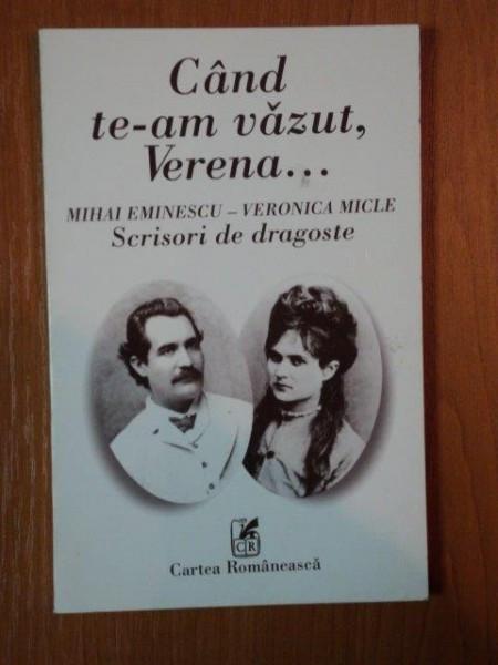 CAND TE-AM VAZUT, VERENA... de MIHAI EMINESCU - VERONICA MICLE foto mare