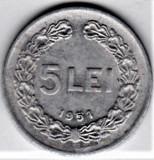 5 lei 1951  VF+  RPR (15), Aluminiu