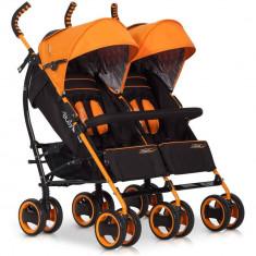 Carucior pentru gemeni Duo Comfort - Easy Go - Electric Orange - Carucior Gemeni