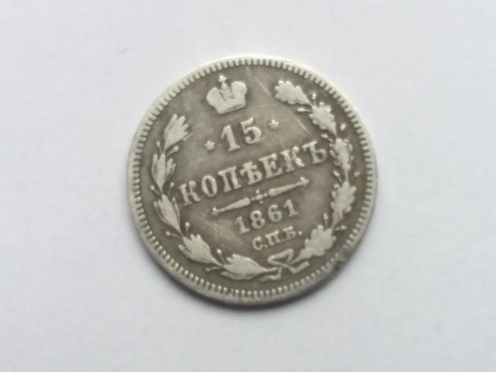 Rusia 15 kopeici 1861 foto mare