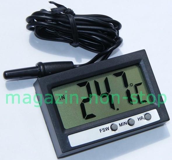 Termometru Digital Interior Exterior Si Ceas