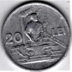 20 lei 1951 VF+ RPR (16) - Moneda Romania, Aluminiu