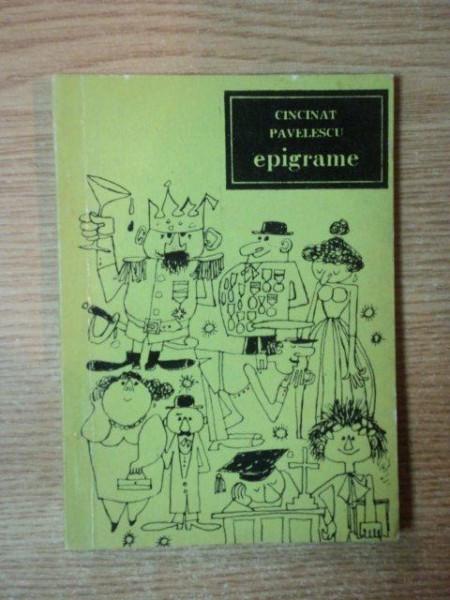 EPIGRAME de CINCINAT PAVELESCU , 1966 foto mare