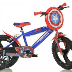 Bicicleta DINO BIKES - Capitan America 416UL CA - Bicicleta copii
