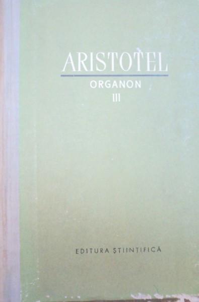 ORGANON-ARISTOTEL VOL 3 1961