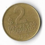 Moneda 2 pesos 1994 - Uruguay, America Centrala si de Sud