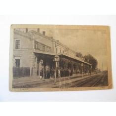 Carte postala gara Craiova ocupatia germana circulata cca.1918