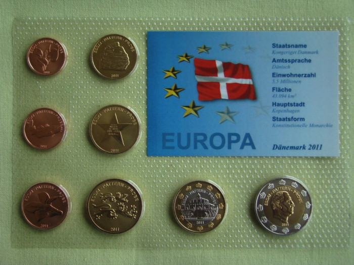 DANEMARCA - Set Monetar 2011 - PROBE foto mare