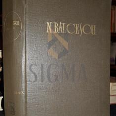 ZANE G. - NICOLAE BALCESCU, OPERE, Volumul IV (CORESPONDENTA), 1964, Bucuresti