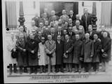 FOTOGRAFIE VECHE - LICEUL MILITAR IASI - PROMOTIA 1925 ANIVERSARE 50 ANI