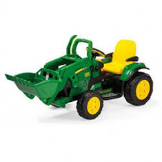 Tractor cu Excavator JD Ground Loader - Masinuta electrica copii Peg Perego