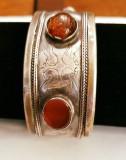 Bratara argint cu chihlimbar, model vintage