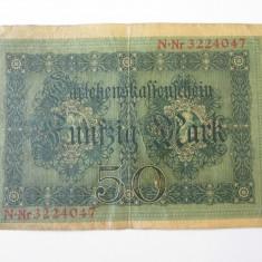 Germania 50 Mark/Marci 1914 lipita cu scoci