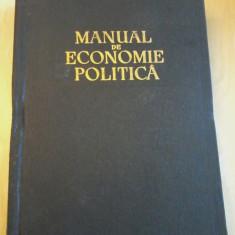 MANUAL DE ECONOMIE POLITICA -  Academia de stiinte a URSS 1955