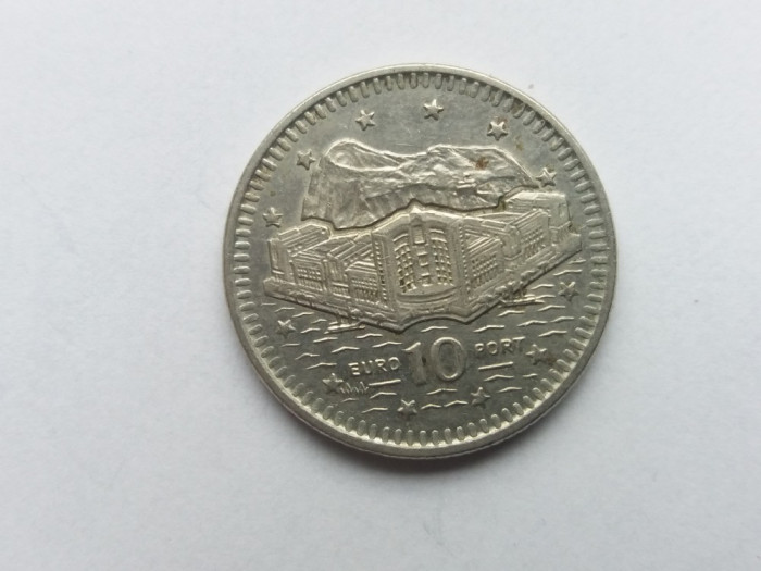 Gibraltar 10 pence 1993 foto mare