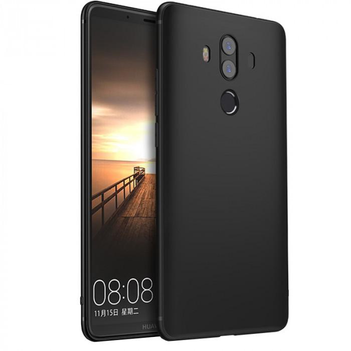 Husa silicon slim pentru Huawei Mate 10, Negru foto mare