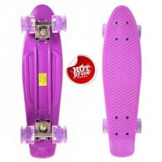 Penny Board Roti Silicon Lumini 56cm Mov - Skateboard, Marime: 22