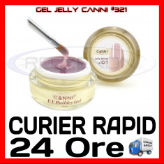 GEL UV COVER CANNI JELLY SERIES #321, 15 ML  - CONSTRUCTIE MANICHIURA, UNGHII UV