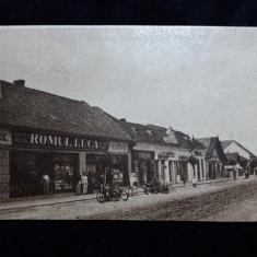 OCNA MURES - UIOARA - MAGAZINE, RECLAME, MASINA- TAIATA SI STAMPILATA DE CENZURA - Carte Postala Transilvania dupa 1918, Necirculata, Fotografie