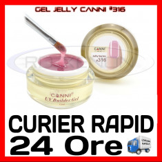 GEL UV COVER CANNI JELLY SERIES #316, 15 ML  - CONSTRUCTIE MANICHIURA, UNGHII UV