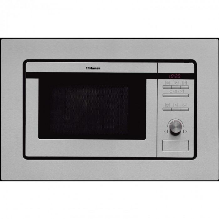 Cuptor cu microunde incorporabil Hansa AMM20BEIH, putere 800 W, capacitate 20 l, grill, inox foto mare