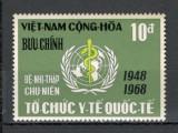 Vietnam de Sud.1968 20 ani OMS  SV.327, Nestampilat