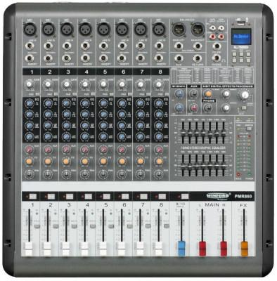 Mixer cu amplificator 8 canale 860D, 650W x 2, cod: 10105667 foto