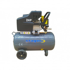 Compresor de aer Stager, 50L, 2HP, 200L/min, 8bar, motor cupru, Compresoare cu piston