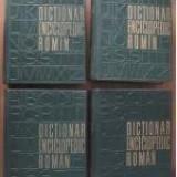 DICTIONAR ENCICLOPEDIC ROMAN 4 VOL.1962-1966
