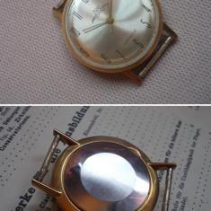Superb ceas LUCH / Vympel cal 2209, a.f. 1961, placat cu aur, carcasa slim - Ceas barbatesc, Mecanic-Manual