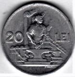 20 lei 1951  a.UNC/UNC  RPR (6), Aluminiu