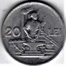 20 lei 1951 a.UNC/UNC RPR (6) - Moneda Romania, Aluminiu