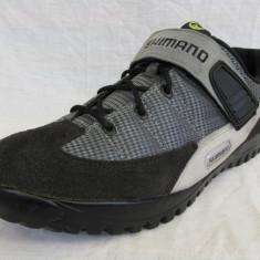 Pantofi ciclism MTB Shimano M038, marime 44, 5 - Pantofi barbat, Culoare: Gri