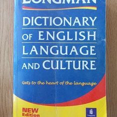 LONGMAN- DICTIONARY OF ENGLISH LANGUAGE AND CULTURE- 1568 pagini