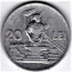 20 lei 1951 VF+ RPR (17) - Moneda Romania, Aluminiu