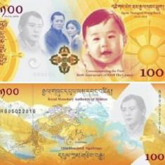 !!! BHUTAN - 100 NGULTRUM 2017 (2018), COMM. - P NEW - UNC / CU FOLDER - bancnota asia