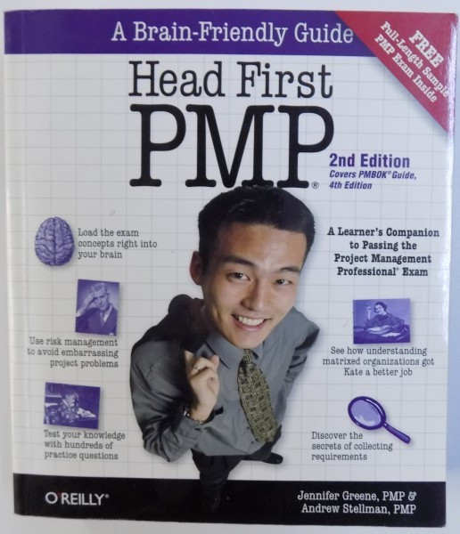 HEAD FIRST PMP - 2ND EDITION COVERS PMBOK GUIDE 4 TH EDITION by JENNIFER GREENE & ANDREW STELLMAN , 2009 foto mare