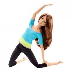 Papusa Barbie articulata on the move, fitness, complet mobila, Plastic, Fata