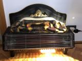 Semineui electric,englezesc,cu radiator si efect de lemne arzand,cu flacara