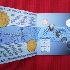 Set Monetarie 2004 BNR - Monede PROOF in circulatie + Medalie Comemorativa - Moneda Romania