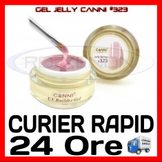 GEL UV COVER CANNI JELLY SERIES #323, 15 ML  - CONSTRUCTIE MANICHIURA, UNGHII UV