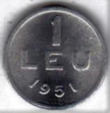 1 leu 1951 RPR  aluminiu UNC (1)