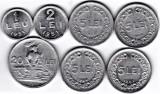 LOT RPR 5 LEI 1948 1949 1950 1951+1+ 2 +20 lei 1951 F  VF  XF  a.UNC  (3), Aluminiu