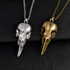 Pandantiv  / Lantisor RABESCHADEN craniu mesagerul lui ODIN skull