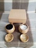 Joc Go 9x9 -lucrat manual, lemn masiv, piese ceramice  coreene + manual de joc