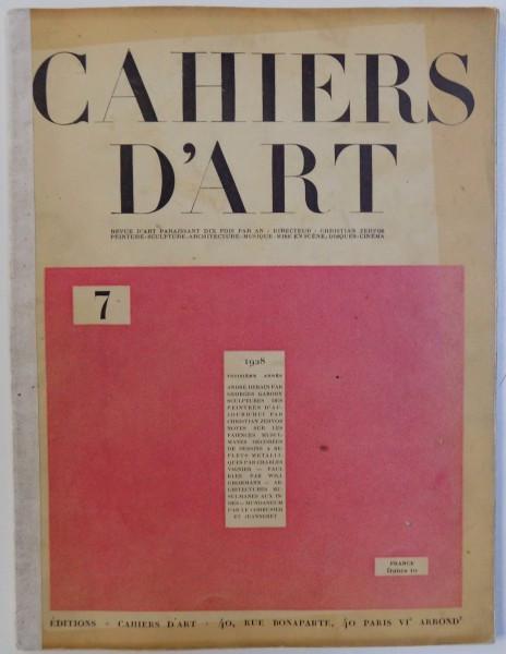 CAHIERS D 'ART , TROISIEME ANNEE , No 7 , 1928 foto mare