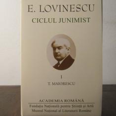 E. Lovinescu – Ciclul junimist